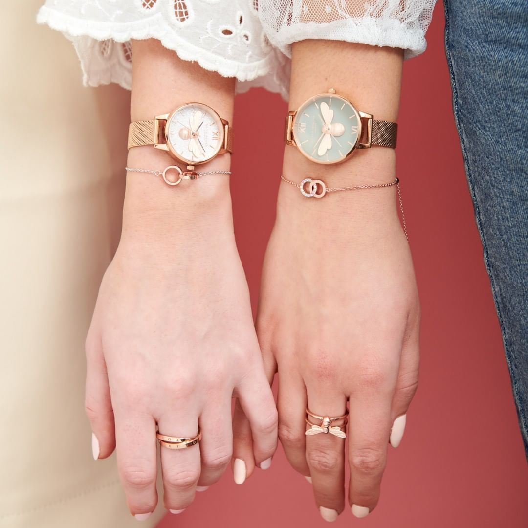 Cocomi Lucky Bee Rose Gold Watch